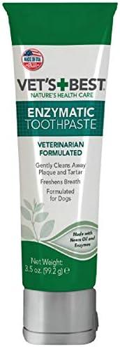 Vet's Best Enzymatic 狗狗牙膏 | 牙齿清洁和清新口气牙齿护理凝胶 | 3.5 盎司(99.