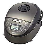 TIGER 虎牌 IH電飯煲 3合 一人食 菜單包含:冷凍米飯/甜米酒/麥飯 炊煮 黑色 JPF-N550-K
