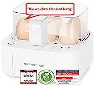 Emerio 煮蛋器 NEUHEIT,烹饪所有三个烹饪级别[软   中   硬] 只需一个烹饪过程,语音输出,独特技术和设计,白色,400瓦 Weiß, Bpa Frei max. 6 Eier EB-115560.2