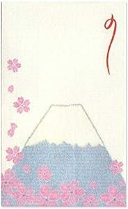 和纸Kawasumi 和纸Poch袋 绉布画 樱和富士山 25片装