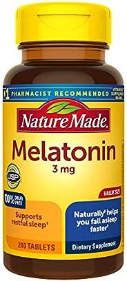 Nature Made 褪黑素片,3mg,有益于入睡,240粒?(包装可能有所不同)
