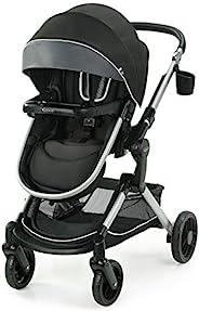 Graco 葛莱 Modes Nest 婴儿车 | 婴儿推车带高度可调可翻转座椅,摇篮模式,超大存储,自立式折叠和轻质铝制框架,Spencer