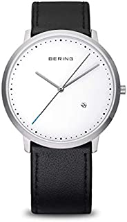 Bering 丹麦品牌 经典系列 时尚皮带男表 商务男士超薄防水手表