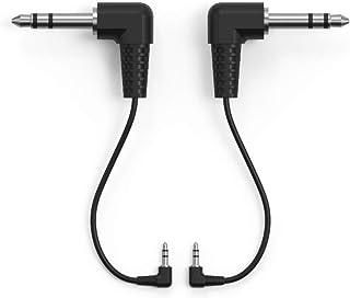 WIDI TRS 2.5 毫米至 TRS 6.35 毫米 MIDI 电缆配件选项套装(2 个)2.5 毫米(3/32 英寸)公头 TRS 至 6.35 毫米(1/4 英寸)公头 TRS MIDI 10 厘米MIDI 电缆适用于 CME WIDI...