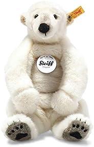Steiff Nanouk 北极熊 33 厘米 毛绒熊 坐着的毛绒熊 儿童毛绒玩具 适合玩耍和拥抱 原创毛绒玩具 带纽扣 可活动 & 可水洗 白色 (062
