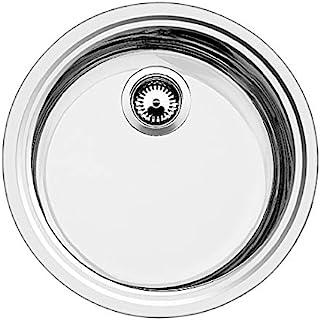 BLANCO 铂浪高 Rondosol-IF 圆形水槽,厨房水槽,适用于普通和平面齐整安装,无排水控制,不锈钢刷饰;514647