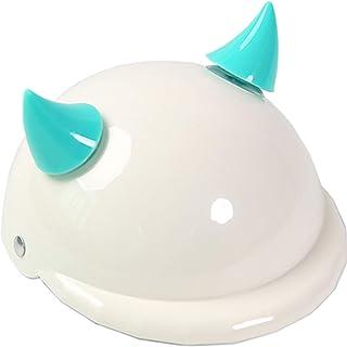 Pearlead 宠物狗摩托车头盔猫宠物服装帽子带角太阳雨保护白色 S 码