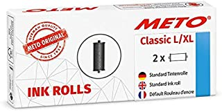 METO 彩色卷 适用于 METO Classic L,XL 专业手写标记器 30007715 (适用于 32 x 19 毫米 & 29 x 28 毫米标签) 2 件,黑色