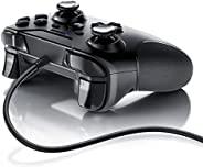 CSL - 游戏手柄 - PS3 - 控制器有线-高品质模拟棒 - 低死区 - 高反应速度 - 双振动反馈 - 橡胶*抓地力