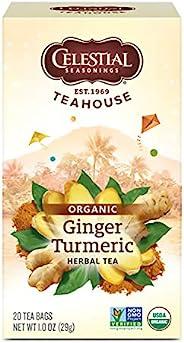 Celestial Seasonings Organics Herbal Tea, Ginger & Turmeric, 20 Count (Pack of 6) (Packaging May V