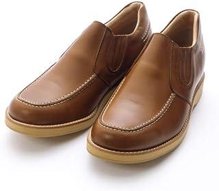 [北嶋制鞋工业所] 秘密鞋 侧壁 休闲鞋 牛皮 日本制造 宽幅 5.5cm 增高 4E 懒人鞋 523 男士