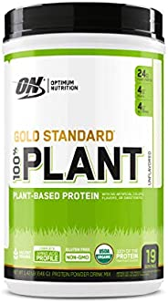 Optimum Nutrition 黄金标准 100% 植物基蛋白粉,无味,1.42 磅
