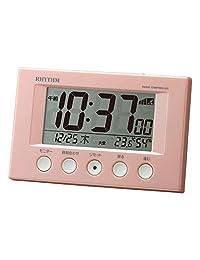 節奏時鐘 RHYTHM 鬧鐘 適合波浪聲 シェル?ピンク(ピンクメタリック) 7.7x12x5.4cm 8RZ166SR91