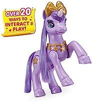 Pets Alive My Magical Unicorn 电池供电互动机器人玩具(紫色独角兽)ZURU 出品