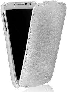 Issentiel 巴黎 - 原装皮套Galaxy S4 翻盖手机壳 - 颗粒白色优质系列