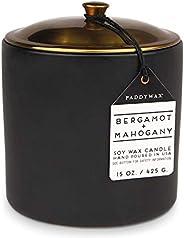 Paddywax Hygge 系列香味大豆蜡蜡烛 Bergamot/红褐色 15盎司 HY1503Z