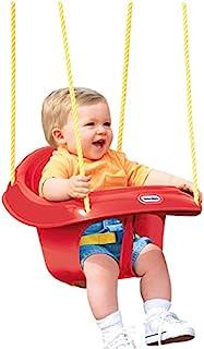 Little Tikes 高背幼儿秋千 模制婴儿和学步儿童座椅 多色