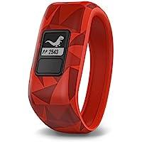 Garmin vívofit jr 儿童健身/活动追踪器,1年的电池寿命,红色,破碎的熔岩