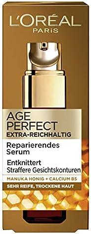 L'Oréal Paris 巴黎欧莱雅 金致臻颜系列 紧致锁龄多效抗皱精华 适合非常成熟和干燥的肌肤,含麦卢卡蜂蜜及B5钙,