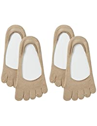 ATSUGI THE LEG BAR 纯线棉 5指袜 脚套〈2双装〉 VLC6089 女士
