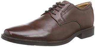 Clarks 男子Tilden Plain 德比牛津平底鞋