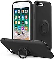 Vooii iPhone 8 Plus 手机壳,iPhone 7 Plus 手机壳支架 | 液态硅胶 | 10 英尺(约 3 米)跌落测试防护,超细纤维内衬防震全身保护套,适用于 iPhone 8 Plus/7 Plus
