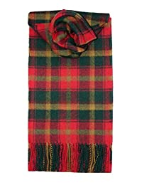Mapleaf 格子图案围巾 羔羊毛