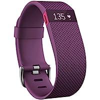 Fitbit Charge HR 智能手环 心率实时监测 自动睡眠记录 来电显示 运动蓝牙手表计步器 紫色 L FB40…