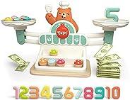 TOP BRIGHT 平衡数学游戏, STEM 玩具儿童平衡计数玩具女孩男孩礼物,学前教育玩具幼儿园数字学习游戏适合 3 4 5 岁儿童