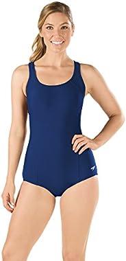 speedo 女式泳衣 PowerFlex 公主接缝 Ultraback 保守剪裁