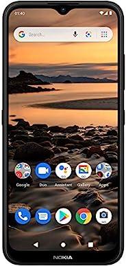 Nokia 诺基亚 1.4 | Android 10(Go Edition)| 解锁智能手机 | 2 天电池 | 双 SIM 卡 | 美国版 | 2/32GB | 6.51 英寸屏幕 | 炭黑色