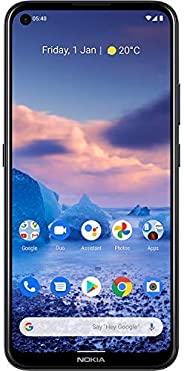 Nokia 诺基亚 2.4 英寸高清+屏幕的智能手机,4800 万像素四摄像头,Qualcomm Snapdragon 662,2 天电池和 Android *,双 SIM 卡,4/128 GB(AT&T/T-M