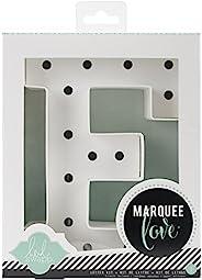 Heidi Swapp Marquee Love 20.32cm 手枪套件,American Crafts 出品;字母 E 包括 DIY 弹珠字母、灯串、16 个透明灯泡和描模版