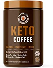 Rapidfire Kato 咖啡速溶咖啡混合物,焦糖玛奇朵口味,7.93 盎司。(255g)、15 份