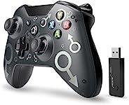 【2020*新版本】Xbox One无线控制器,W&O无线PC游戏手柄带2.4GHZ无线适配器,兼容Xbox One/One S/One X/P3主机/Windows 7/8/10