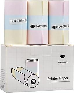 彩色热纸打印纸,长期存储 2 年,57 毫米 x 30 毫米纸张(3 卷),适用于 Paperang P1 / P1S / P2 / P2S
