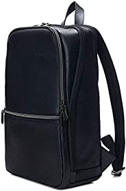 Alpine Swiss 男式 Sloan Slim 14.1 英寸笔记本电脑背包顶部粒面皮革