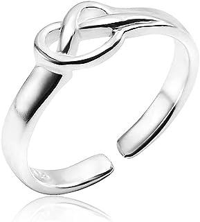 Silverline Jewelry - 925 纯银无限结爱开口可调节趾环