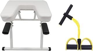 OGODU 白色瑜伽头手持支架带黄色锻炼阻力带