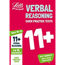11+ Verbal Reasoning Quick Practice Tests Age 10-11 for the GL Assessment tests (Letts 11+ Success) (English Edition)