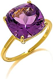 YoTreasure 5.85 克拉紫水晶 10k 黄金戒指珠宝