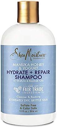SHEA MOISTURE 保湿和修护滋润洗发露,用于受损发质 含麦卢卡蜂蜜与乳木果油滋润 13盎司/384毫升