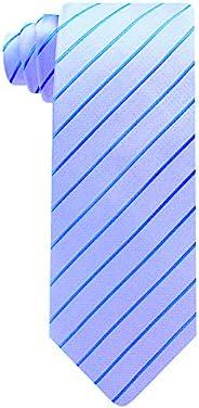 男式条纹领带 - 编织蓝色领带 - 男式领带 Scott Allan 出品