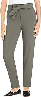 Hilary Radley 女式前系带西裤(绿茶色,4)