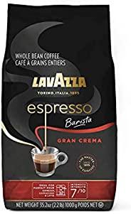 Lavazza 意式特濃咖啡師Gran Crema全豆咖啡混合,中度意式烘焙,2.2磅/1千克袋裝(包裝可能有所不同)