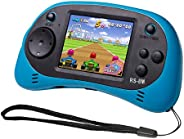 EASEGMER 儿童手持游戏便携式视频游戏播放器,200 种游戏 16 位 2.5 英寸屏幕迷你复古电子游戏机,送给儿童的*佳礼物(蓝色)