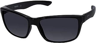 Harley-Davidson 男士运动太阳镜,亮黑色镜框和烟雾镜片