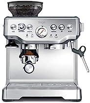 Sage BES875UK The Barista Express咖啡机,带控温牛奶壶,拉丝不锈钢