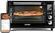 COSORI Air Fryer 烤面包机 智能 12 合 1 干燥器,适用于烤鸡 对流台面烤箱,带烤盘、脱水器和比萨,100 种食谱和 6 个配件,30 升,WIFI - 黑色