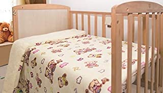 Elegant Home 儿童柔软温暖夏尔巴婴儿学步儿童毯印花波雷戈婴儿车或婴儿床或幼儿床毯毛绒毯 40X50 Bears Love